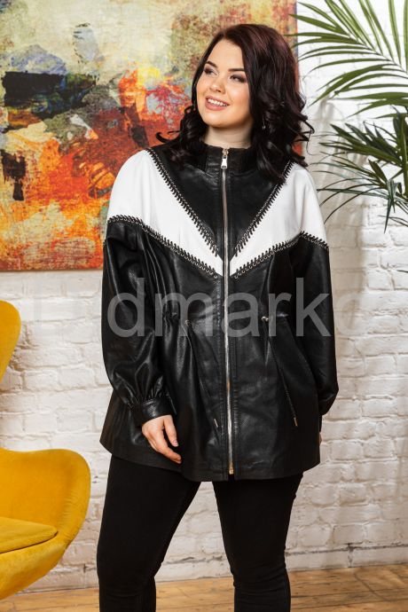 Женская кожаная куртка удлиненная. Фото 5.