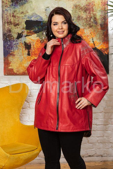 Стильная удлиненная кожаная куртка. Фото 7.