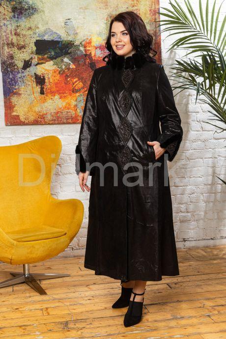 Длинное итальянское пальто из замши. Фото 5.