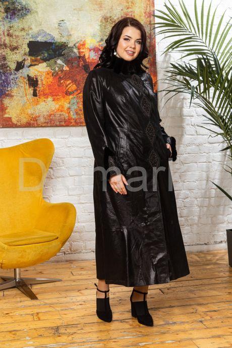 Длинное итальянское пальто из замши. Фото 6.