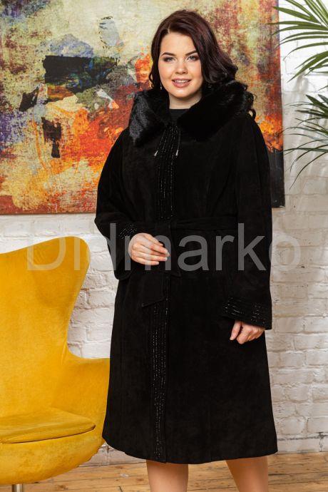 Классическое замшевое пальто с капюшоном. Фото 6.