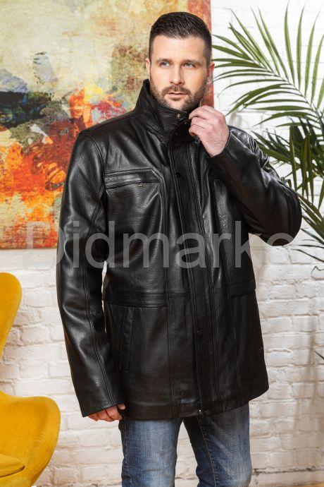 Удлиненная кожаная куртка для мужчин. Фото 6.