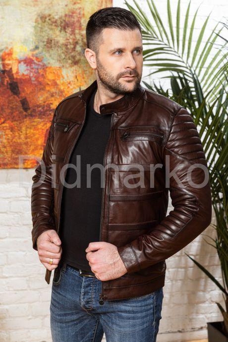 Хит сезона Стильная мужская кожаная куртка. Фото 8.