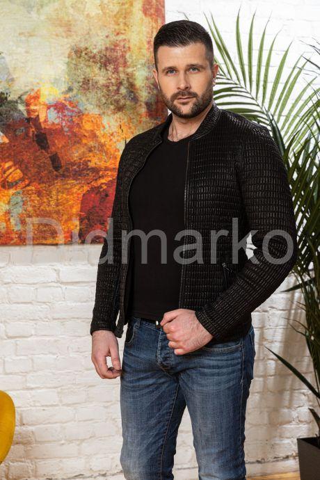Мужская кожаная куртка со стрейчем. Фото 3.