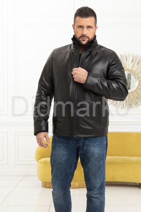 Мужская дубленка средней длины. Фото 7.