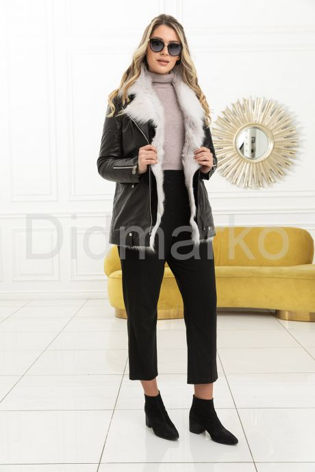 Стильная утепленная кожаная куртка. Фото 4.