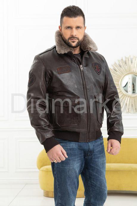 Мужская кожаная куртка со съемной пдстежкой DAYTONA. Фото 7.