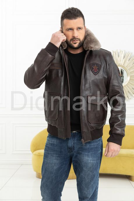 Мужская кожаная куртка со съемной пдстежкой DAYTONA, артикул DM888
