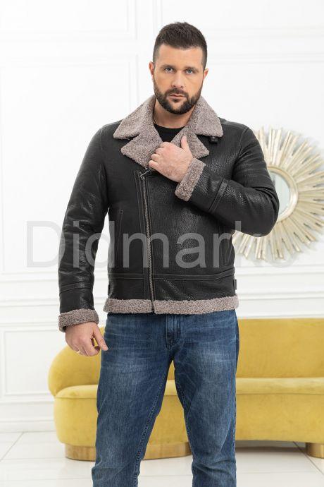 Мужская косуха с мехом керли. Фото 1.