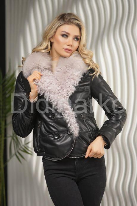 Кожаная демисезонная куртка. Фото 6.