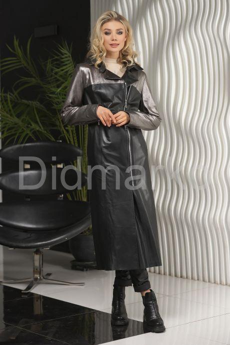Женский кожаный плащ 2021 LW. Фото 1.