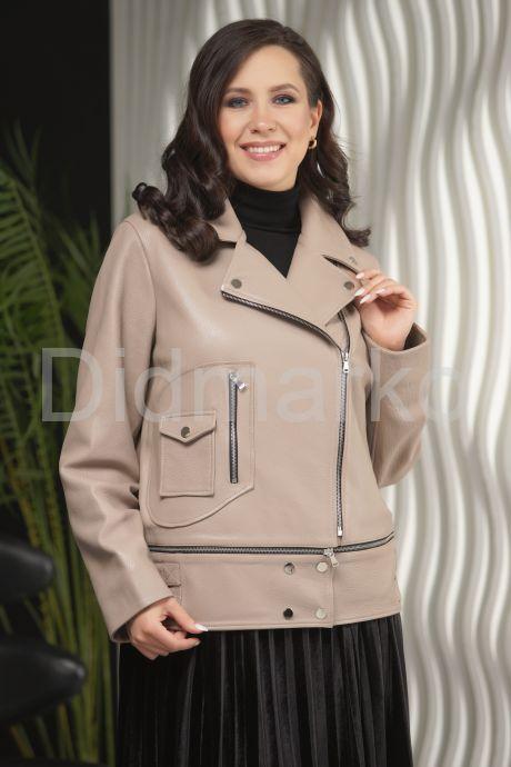 Женская кожаная куртка больших размеров-трансформер. Фото 7.