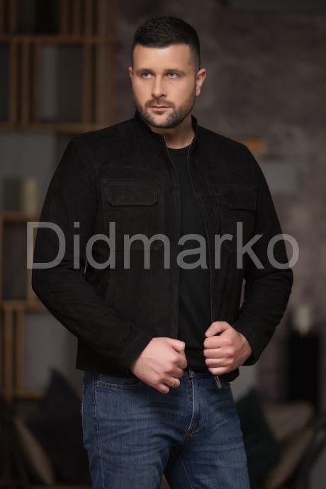 Замшевая мужская куртка, артикул DML030