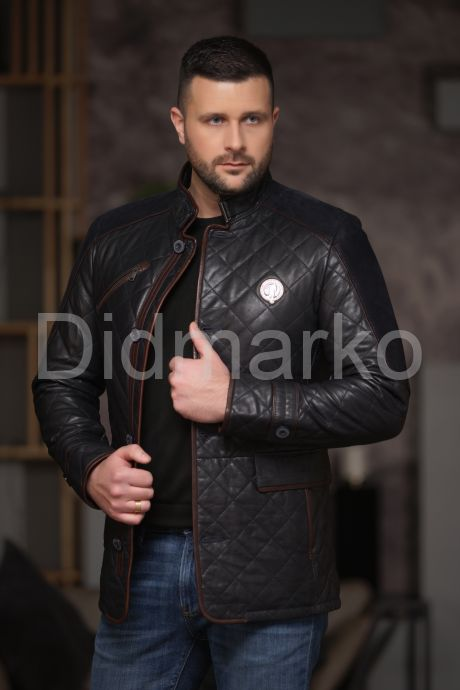 Утепленный стеганный мужской пиджак. Фото 3.