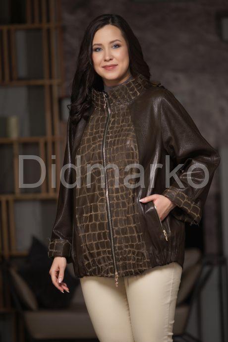Кожаная куртка с разнофактурными вставками. Фото 5.
