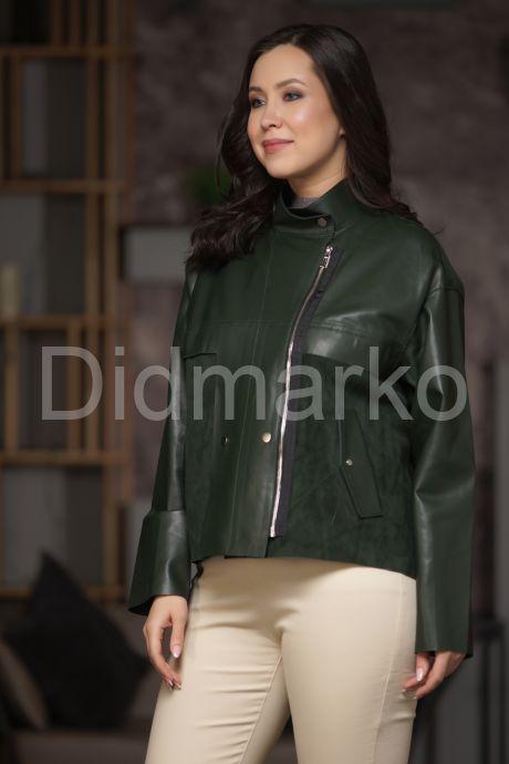 Комбинированная кожаная куртка из кожи с замшей