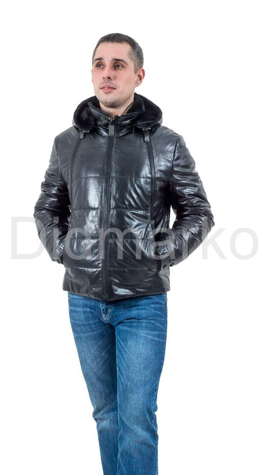 куртка мужская зимняя кожаная с мехом фото