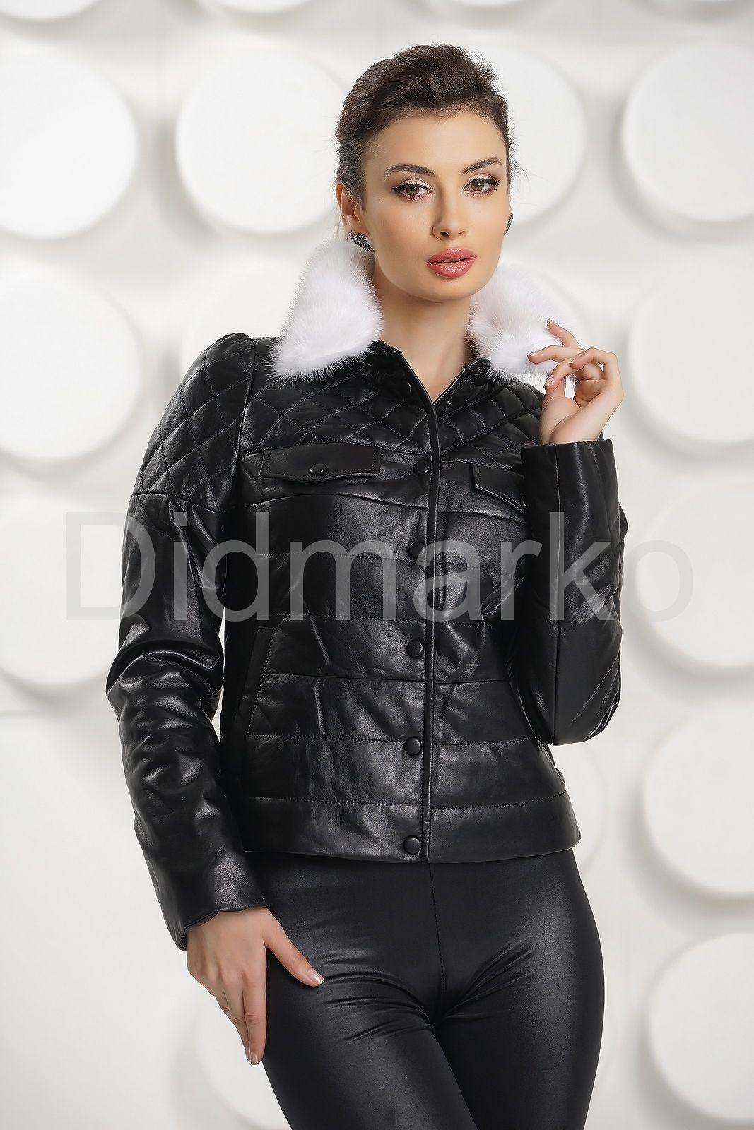 Короткая кожаная куртка Москва