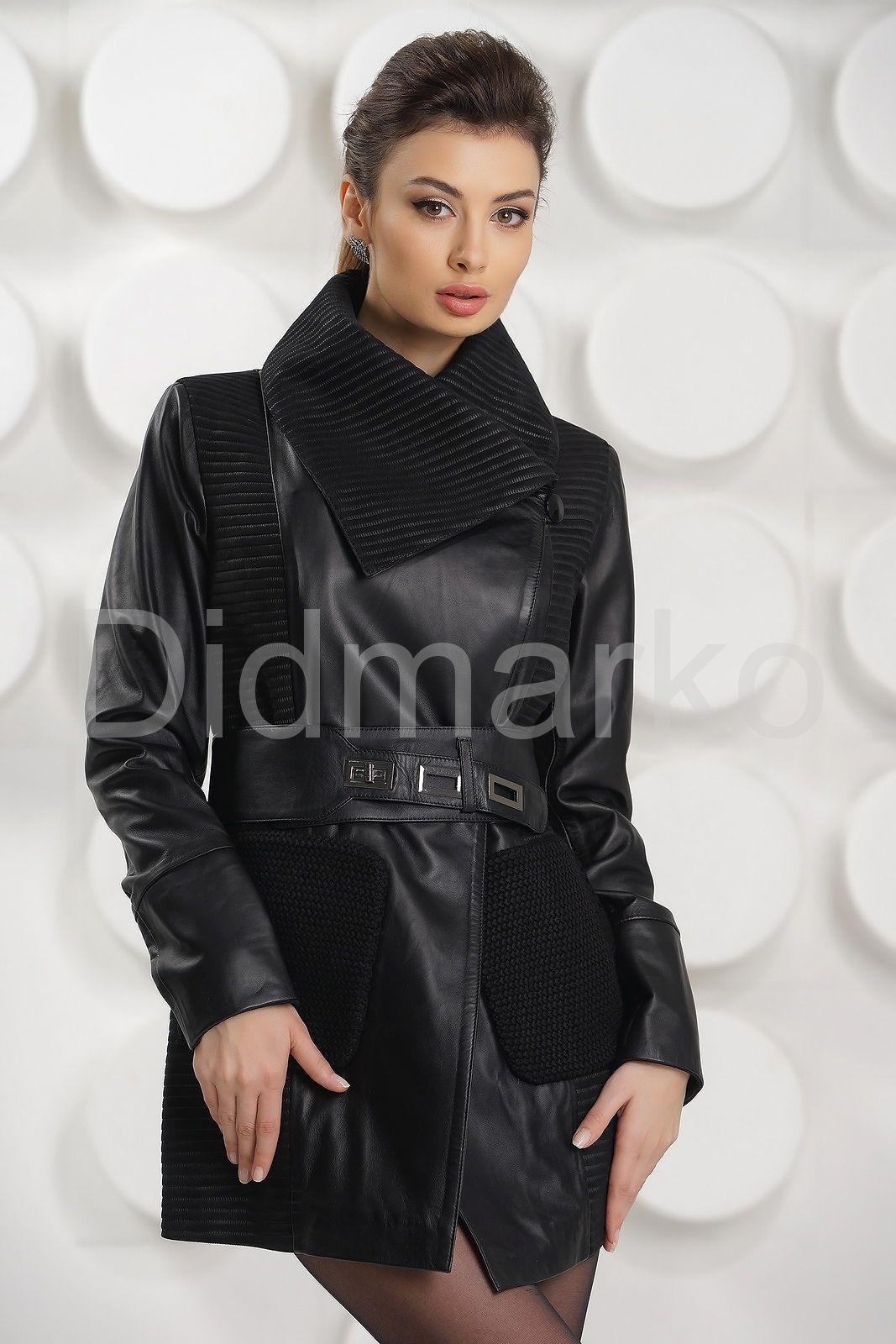 Удлиненная Кожаная Куртка