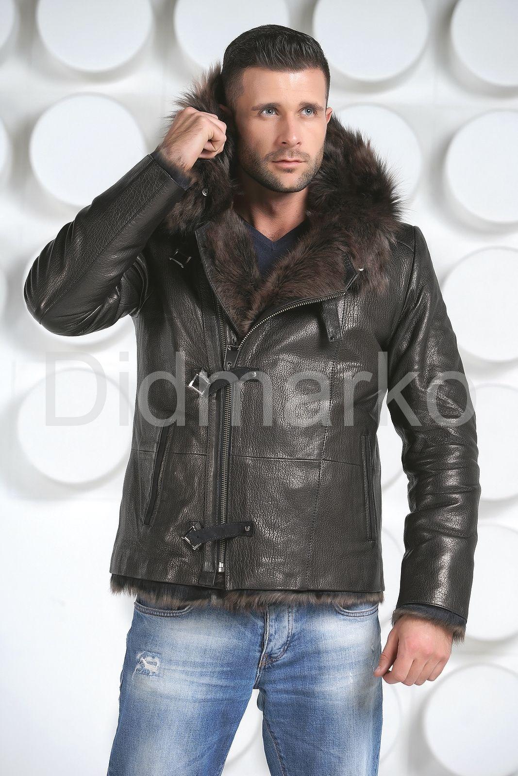 198511f06425a Зимняя мужская кожаная куртка купить по цене 41500.00, артикул DM9018