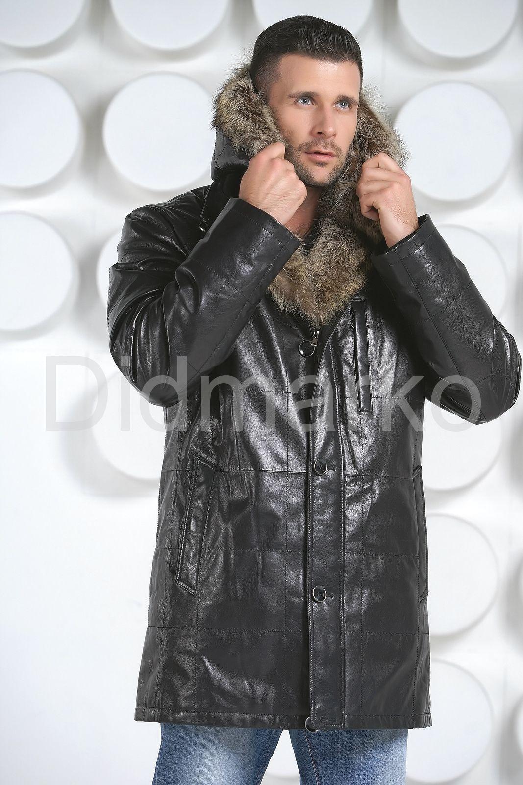 62de7ea05b5bd Мужская зимняя кожаная куртка купить по цене 33000.00, артикул DM132