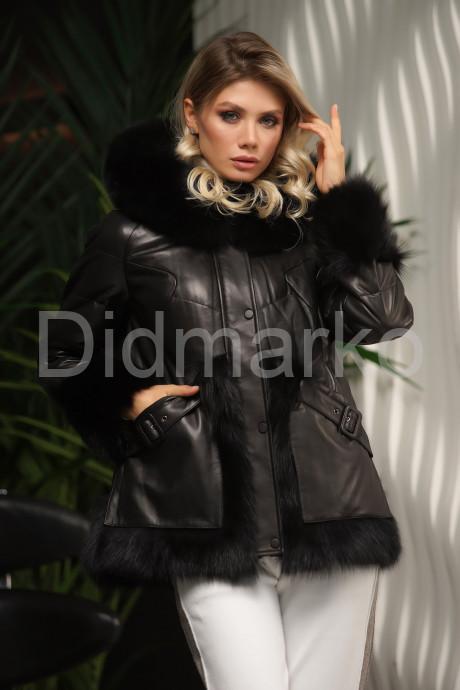 Купить Стильный кожаный пуховик зима 2022 в Москве и Санкт-Петербурге