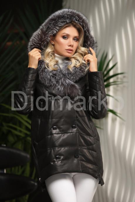 Купить Кожаный пуховик крой кокон в Москве и Санкт-Петербурге
