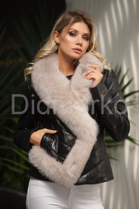 Купить Женская кожаная куртка с мехом - автоледи в Москве и Санкт-Петербурге