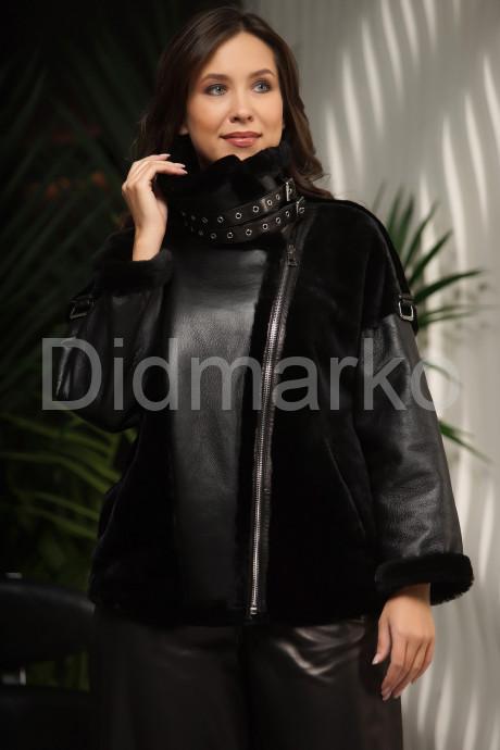 Купить Молодежная дубленка черного цвета в Москве и Санкт-Петербурге
