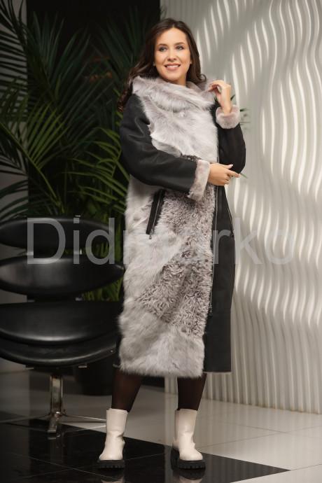 Купить Разнофактурная женская дубленка в Москве и Санкт-Петербурге