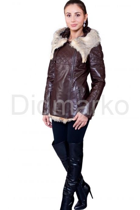 Купить Удлиненная куртка коричневого цвета в Москве и Санкт-Петербурге