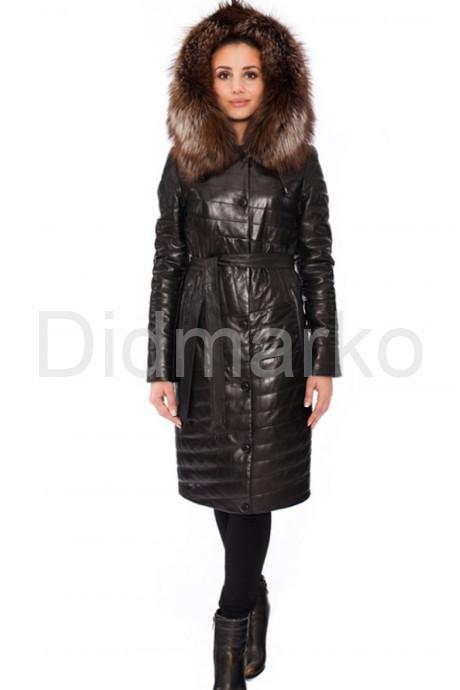 Оригинальное кожаное пальто