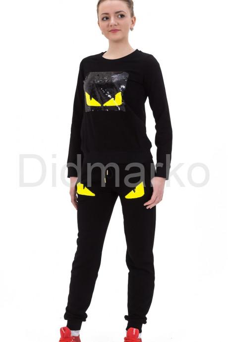 Купить Стильный спортивный костюм черного цвета в Москве и Санкт-Петербурге