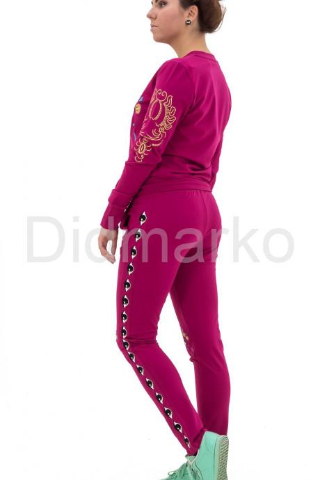 Молодежный спортивный костюм фиолетового цвета