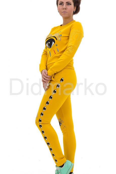Купить Стильный спортивный костюм ярко желтого цвета в Москве и Санкт-Петербурге