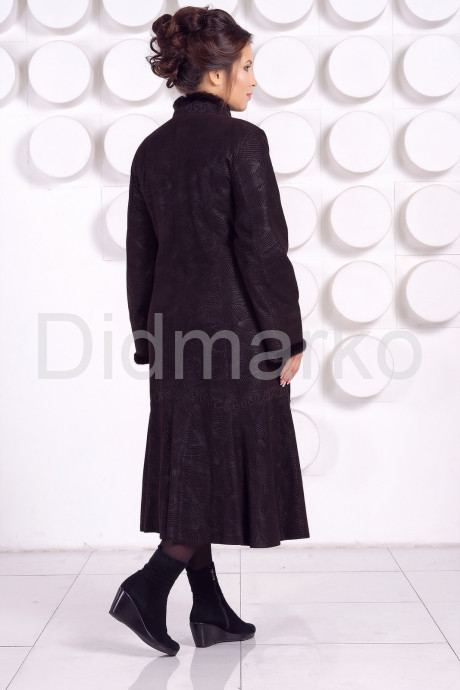 Длинное кожаное пальто RAFINNA