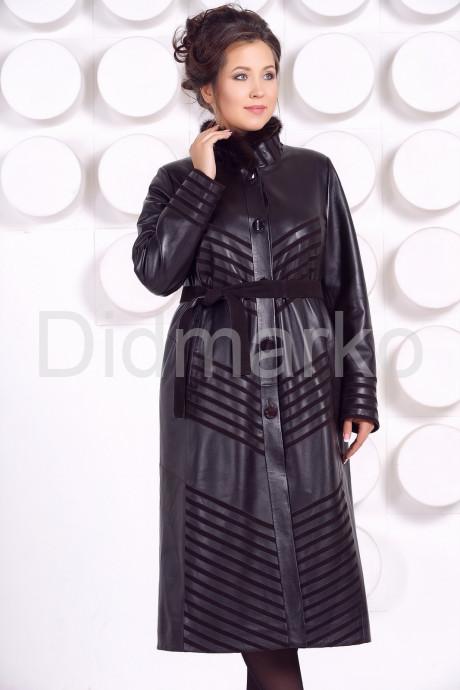 Длинное кожаное пальто MARGARITA-2