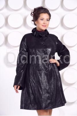 Кожаное пальто больших размеров MONIKA-VIZ