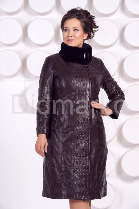 Купить Стильное кожаное пальто больших размеров в Москве и Санкт-Петербурге