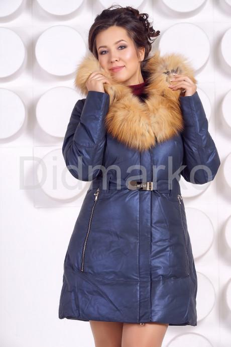 Купить Эксклюзивный кожаный пуховик в Москве и Санкт-Петербурге