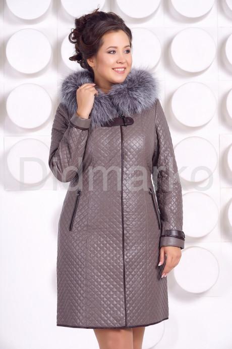 Купить Классическое кожаное пальто с мехом чернобурки в Москве и Санкт-Петербурге