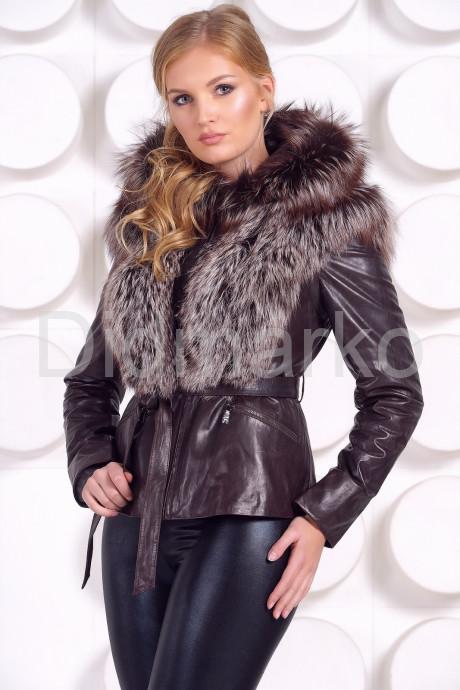 Молодежная куртка-жилетка шоколадного цвета