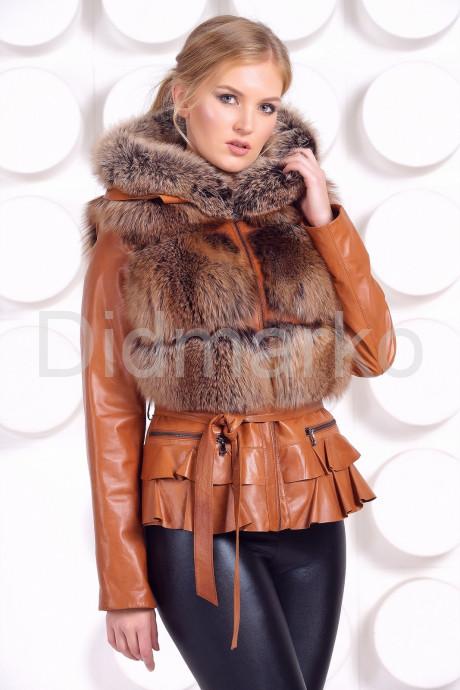 Купить Куртка-жилетка с мехом песца в цвет соболя в Москве и Санкт-Петербурге