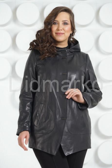 Купить Стильная кожаная куртка с  капюшоном больших размеров в Москве и Санкт-Петербурге