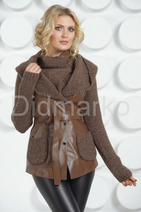 Купить Утепленная кожаная куртка с трикотажем в Москве и Санкт-Петербурге
