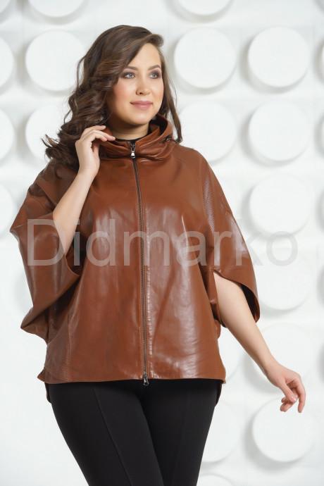 Купить Коричневая кожаная куртка для женщин в Москве и Санкт-Петербурге