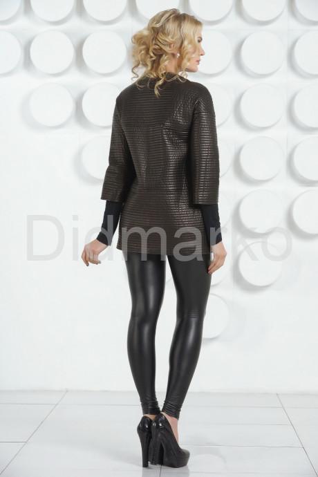 Удлиненная кожаная куртка Шанель