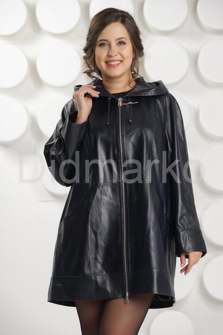 Купить Удлиненная кожаная куртка с капюшоном больших размеров в Москве и Санкт-Петербурге