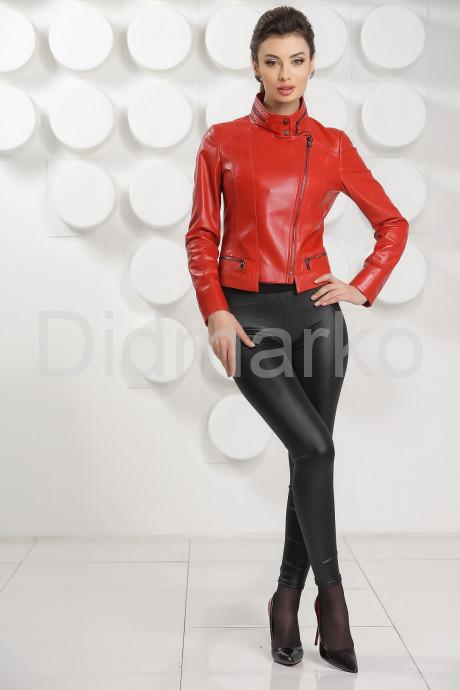 Короткая кожаная куртка косуха 2021