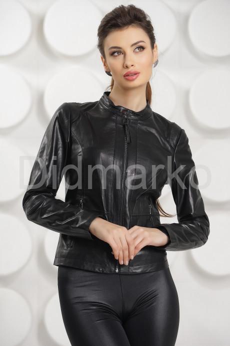 Купить Приталенная кожаная куртка Весна-2017 в Москве и Санкт-Петербурге